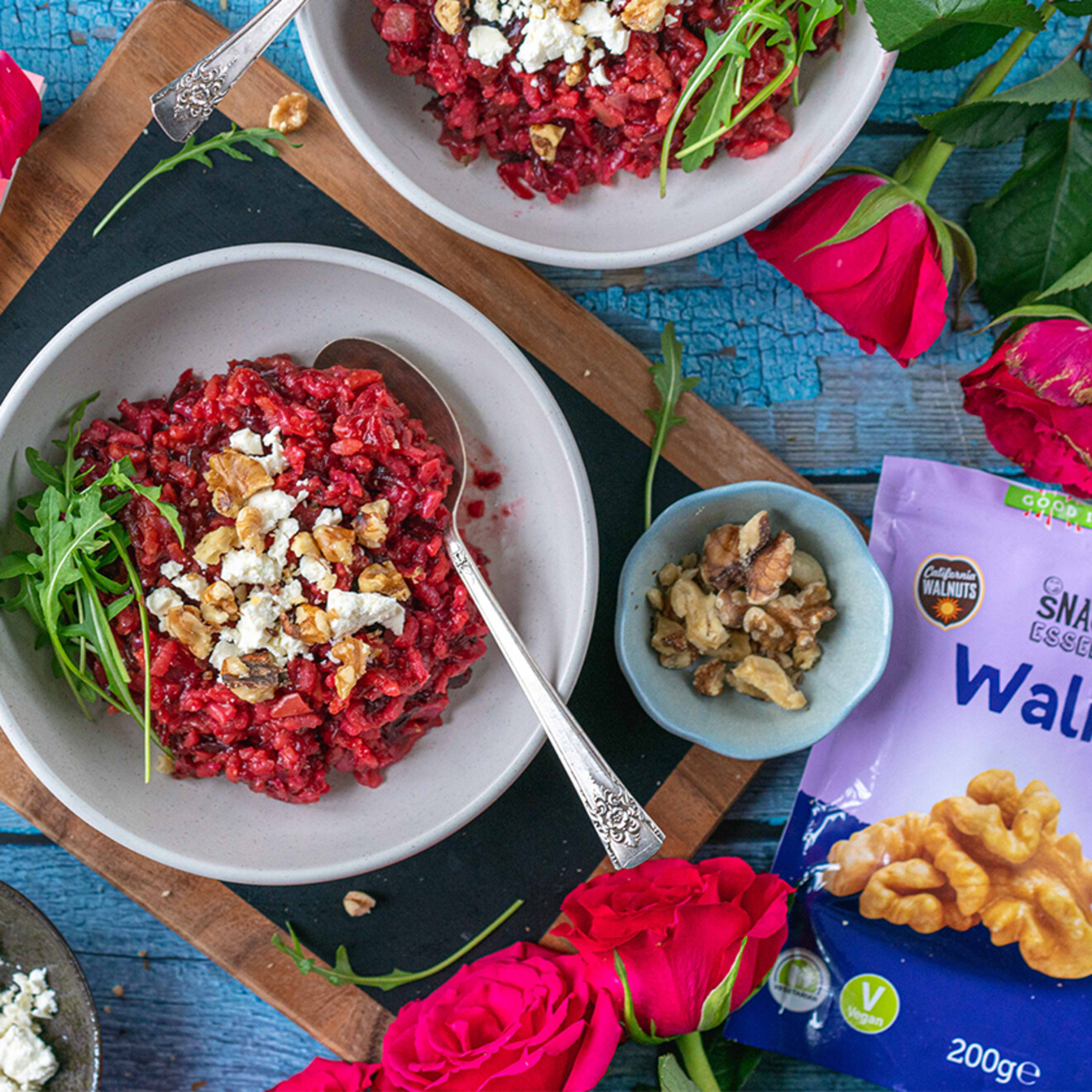 California Walnut and Beetroot Risotto