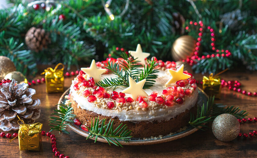 Christmas Carrot Cake with Cashew Nut Frosting