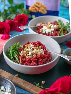 <p>Serve with generous handful of rocket, crumbled feta cheese and our delicious walnuts.</p>